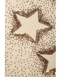 TOPSHOP Natural Knitted Sequin Star Jumper