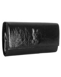 Saint Laurent | Black Patent Leather Belle De Jour Clutch | Lyst