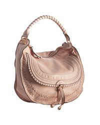 Chloé | Pink Flamingo Calfskin Leather Marcie Large Hobo | Lyst