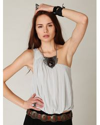 Free People - White Hello Gorgeous One Shoulder - Lyst