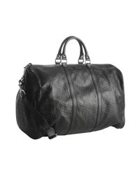 Gucci | Black Ssima Leather Duffel Bag for Men | Lyst
