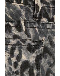 J Brand | Black Leopard Print Jean | Lyst