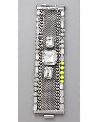 Juicy Couture - Metallic Mesh Chain Bracelet - Lyst