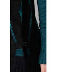L.A.M.B. - Blue Intarsia Tunic Sweater Dress - Lyst