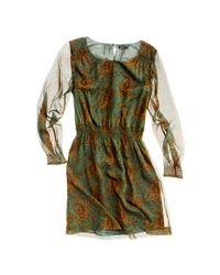 Madewell Green Paisley Bloom Dress