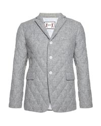 Moncler Gamme Bleu | Gray Diamond Quilted Jacket for Men | Lyst
