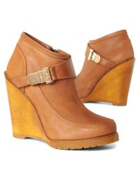 Mulberry Brown Tillie Wedge Shoe Boots