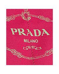 Prada - Pink Raspberry Canvas Logo Tote - Lyst