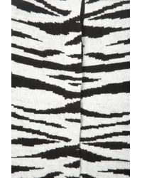 TOPSHOP Black Knitted Zebra Cardigan