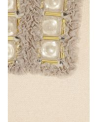 Tory Burch | Natural Miranda Embellished Wool-blend Tunic | Lyst