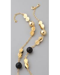Tory Burch - Metallic 3d Clover Rosary Necklace - Lyst