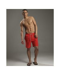 Vilebrequin | Red Okoa Swim Trunks for Men | Lyst