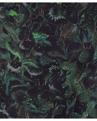 Whyred | Green Liberty Digital Flower Print Silk Dress | Lyst