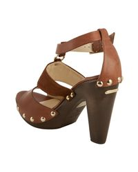 Jimmy Choo | Brown Ursula Leather and Suede Sandals | Lyst