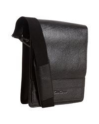 Kenneth Cole | Black Leather Day Small Messenger Bag for Men | Lyst