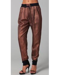 3.1 Phillip Lim | Metallic Lurex Track Pants | Lyst