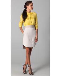 3.1 Phillip Lim - Natural Shirt Hem Skirt with Cummerbund - Lyst