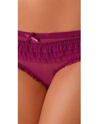 Calvin Klein | Purple Ruffle My Feathers Hipster | Lyst