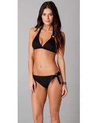 Ella Moss - Black Rhapsody Halter Bikini Top - Lyst