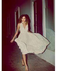 Free People - White Threaded Lurex Maxi Dress - Lyst
