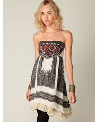 Free People - Gray Serenissima Dress - Lyst