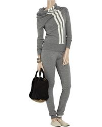 Y-3 | Gray Cashmere and Silk-blend Track Pants | Lyst