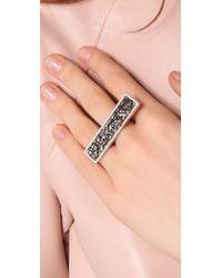 Belle Noel - Metallic Swarovski Crystal Statement Ring - Lyst