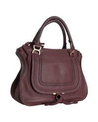 Chloé | Purple Plum Calfskin Marcie Large Shoulder Bag | Lyst