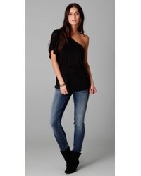 Ella Moss - Black Girls Best Friend One Shoulder Top - Lyst
