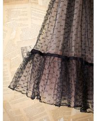 Free People | Black Vintage Tulle Skirt | Lyst
