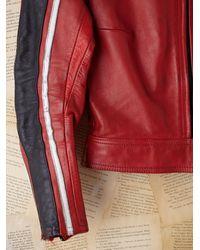 Free People | Red Vintage Racing Jacket | Lyst