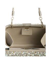 Gucci - Metallic Champagne Satin Crystal Embellished Minaudiere - Lyst