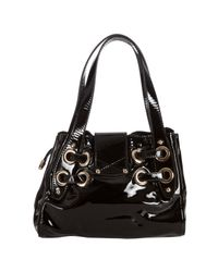 Jimmy Choo - Black Patent Leather Roquette Small Tote - Lyst