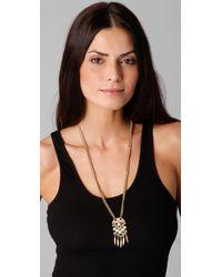 Madewell Metallic Hexagon Pendant Necklace