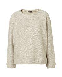 TOPSHOP | Natural Lurex Slubby Sweater | Lyst