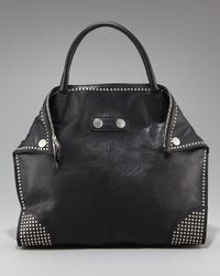 Alexander McQueen | Black De-manta Studded Tote, Large | Lyst