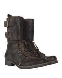 AllSaints - Gray Demise Alpine Boot - Lyst