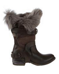 AllSaints Black Italus Low Boot