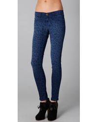 Current/Elliott | Blue The Ankle Skinny Jeans | Lyst