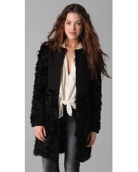 Elizabeth and James | Black Tilda Shearling Combo Coat | Lyst