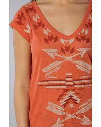 Free People - Orange Bangarang Graphic Tunic - Lyst