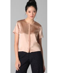 Jenni Kayne | Pink Short Sleeve Shell Top | Lyst