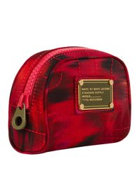 Marc By Marc Jacobs - Red Abstract Mini Nylon Cosmetics Bag - Lyst