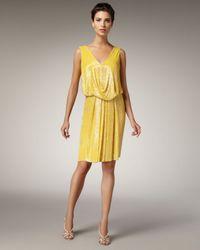 Naeem Khan | Yellow Sequined Polka-dot Dress | Lyst