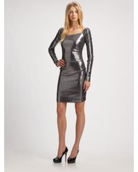 Nicole Miller | Metallic Sequined Dress | Lyst