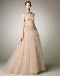 Valentino | Natural Tulle Illusion Ball Gown | Lyst
