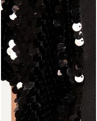 ASOS Collection - Black Asos Curve Exclusive Playsuit with Sequin Sleeves - Lyst