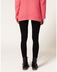 ASOS Collection   Black Asos Leggings with Heart Print   Lyst