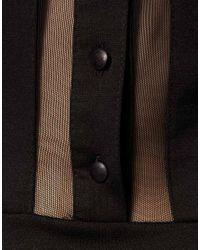 ASOS Collection - Black Asos Skater Dress with Collar - Lyst