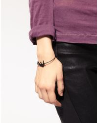 ASOS Collection - Black Asos Skinny Torq Bangle with Swallow - Lyst